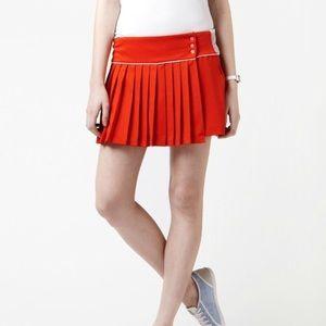 NWT Lacoste Orange Pleated Tennis Skirt